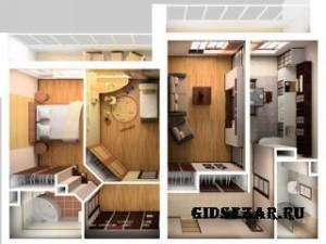 Особенности перепланировки двухкомнатной квартиры