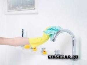 Уход, чистка и мелкий ремонт акриловой ванны