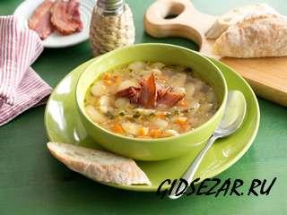 Ароматный куриный суп с фасолью